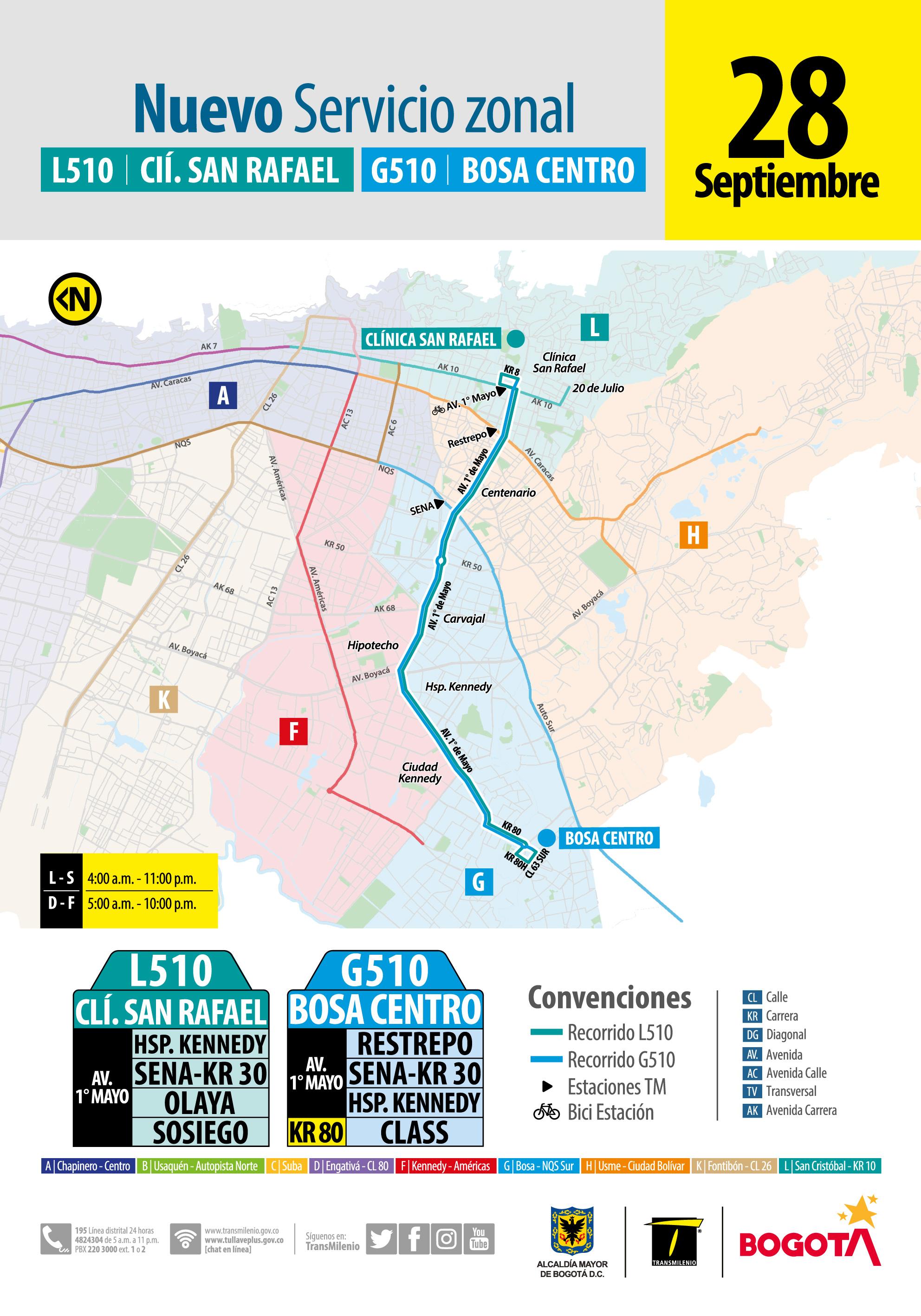 L510 Calle San Rafael - G510 Bosa Centro