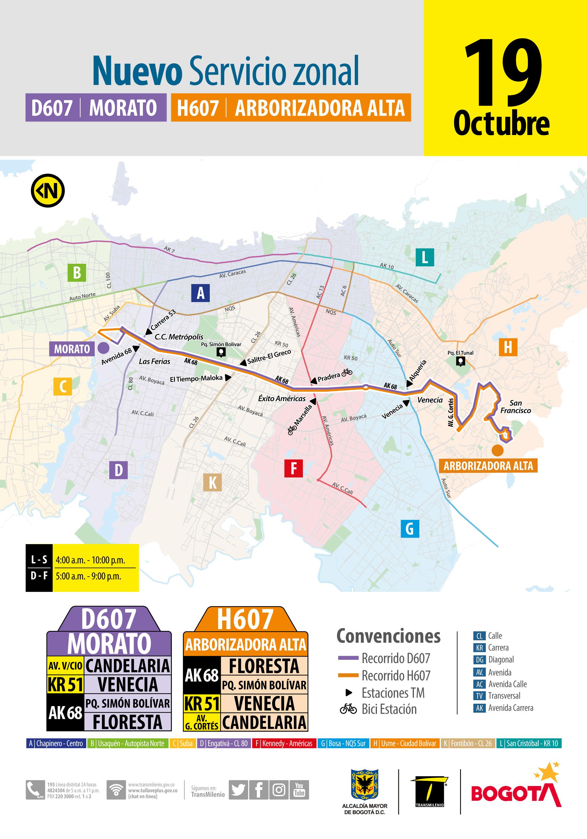 Nueva ruta H607-D607