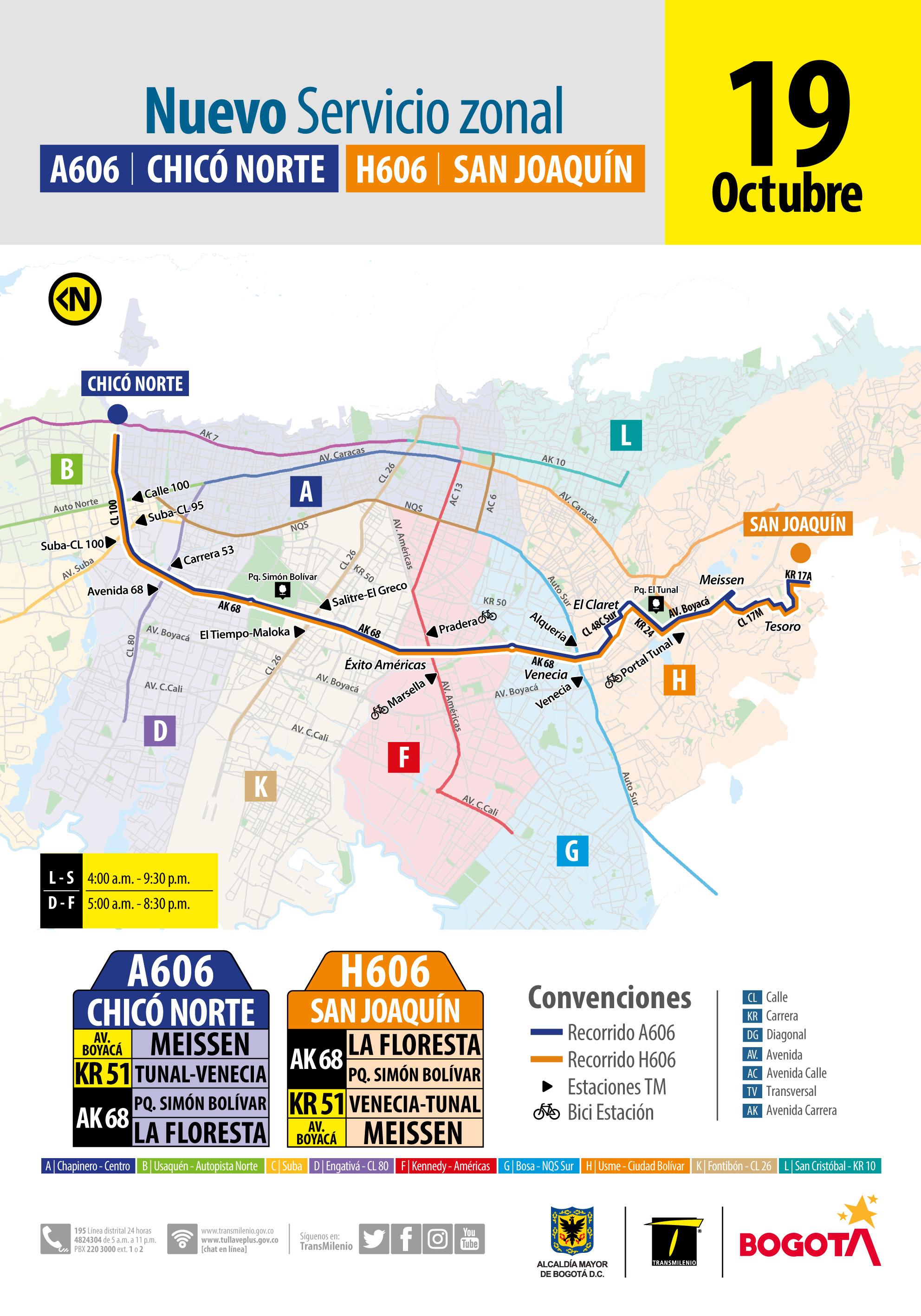 Nueva ruta H606-A606
