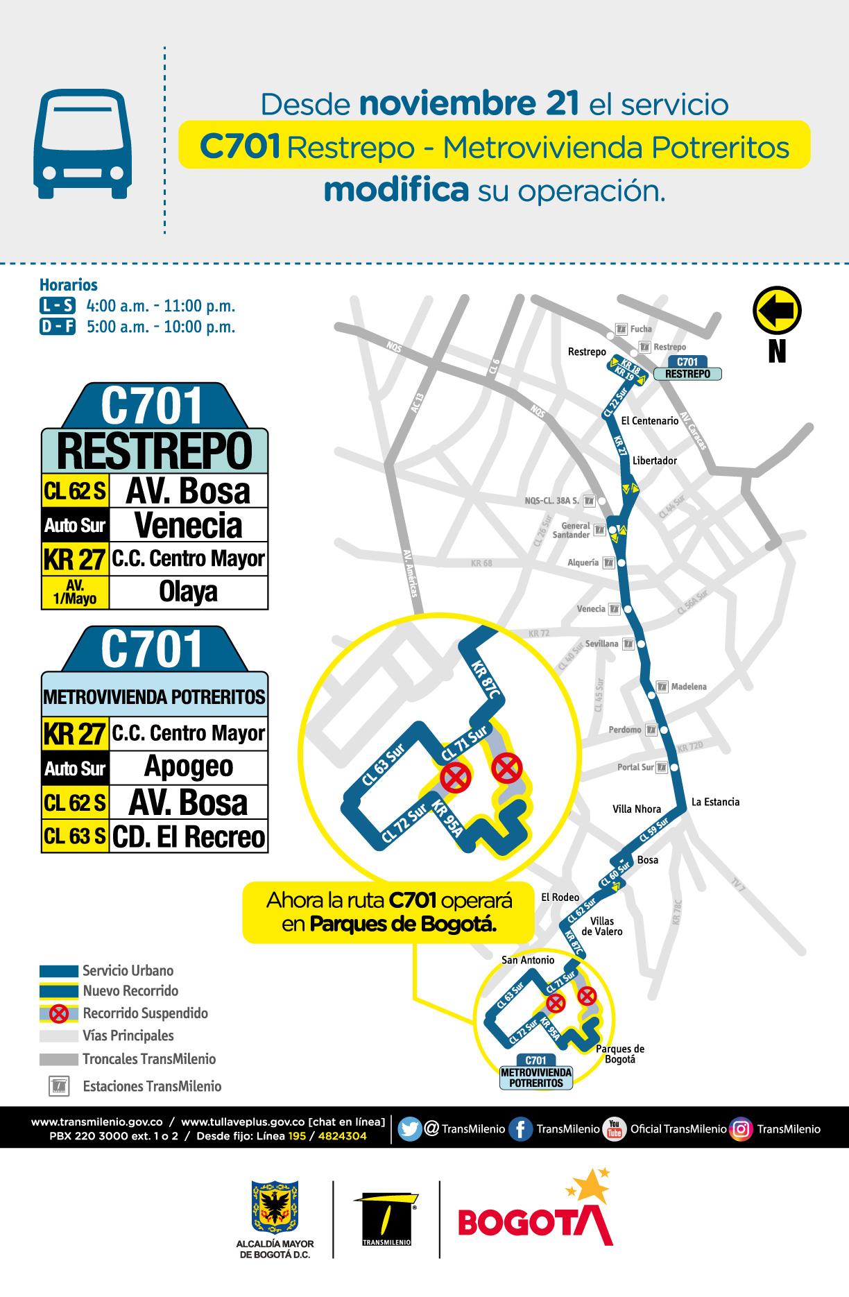 Ruta zonal C701