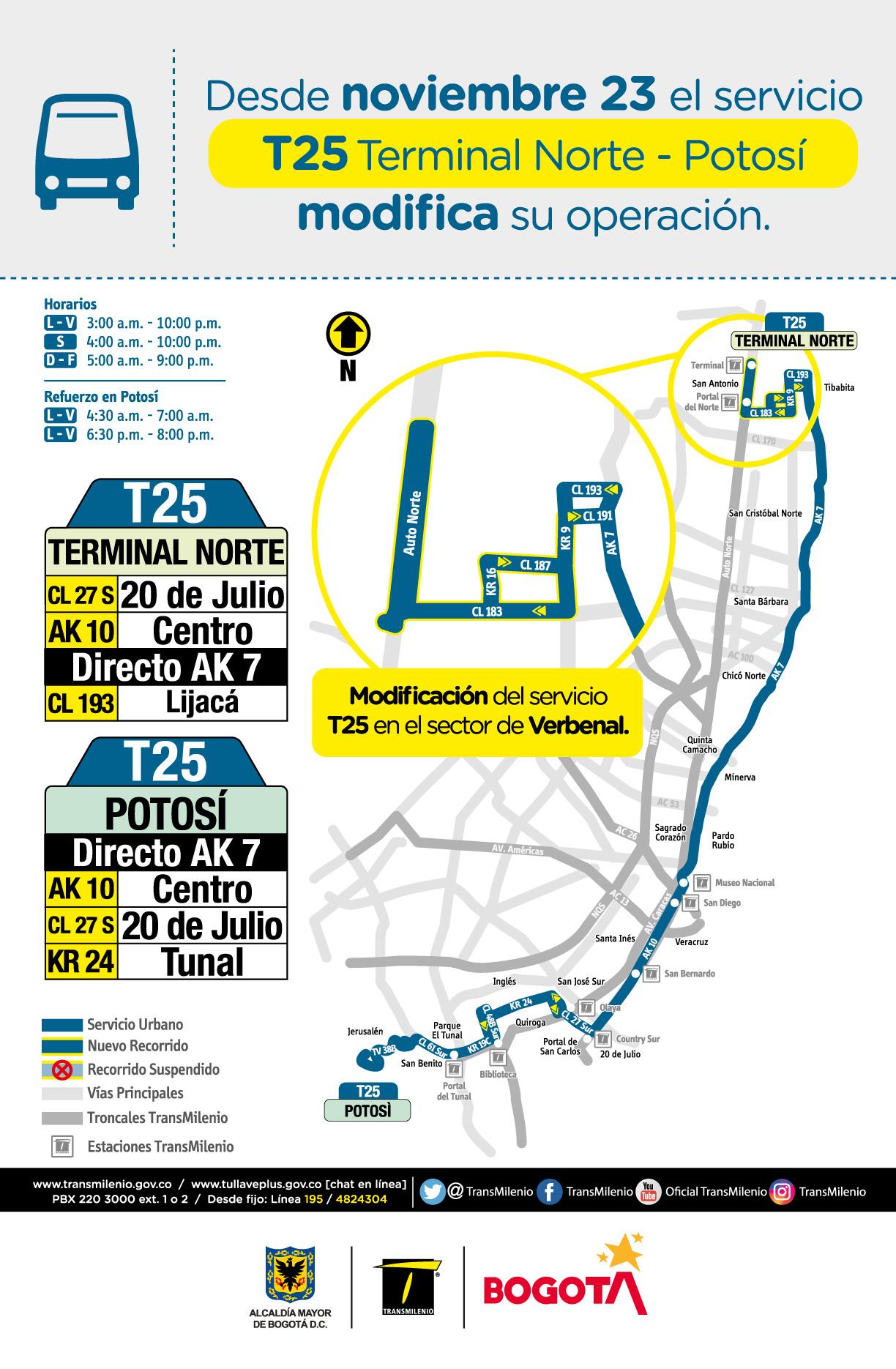 T25 Terminal Norte - Potosí