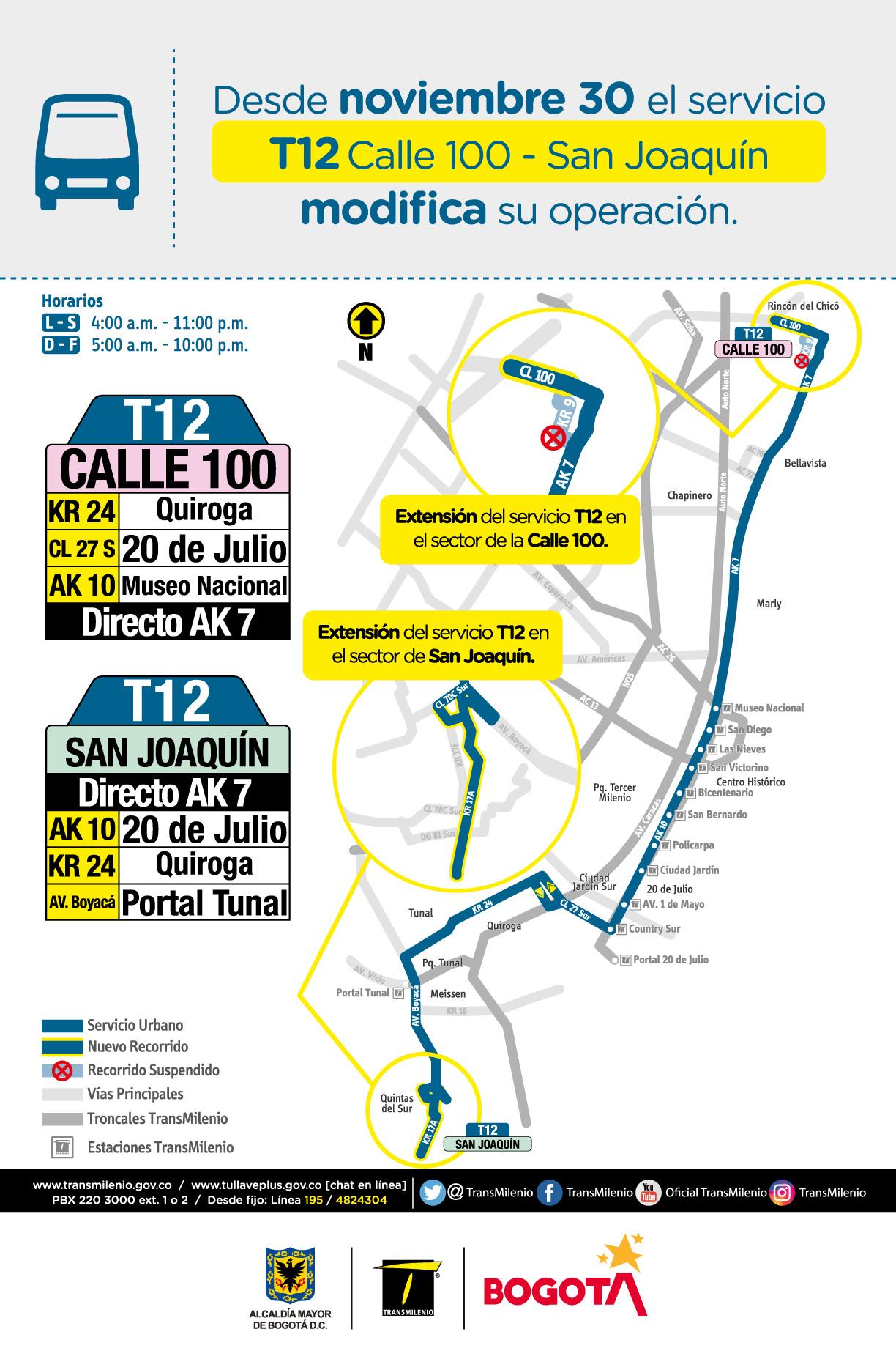 T12 Calle 100 - San Joaquin