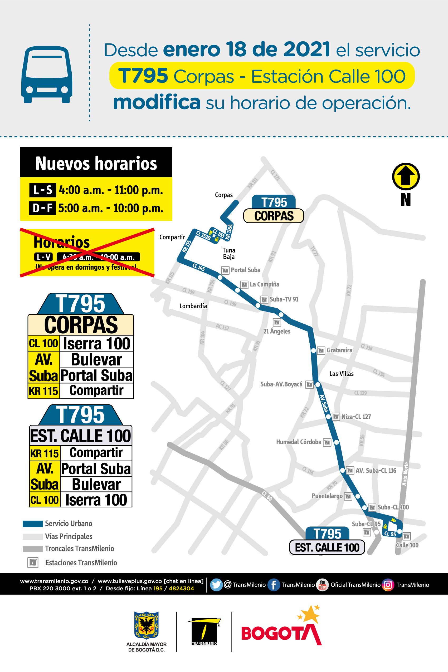 T795 Corpas - Estación Calle 100