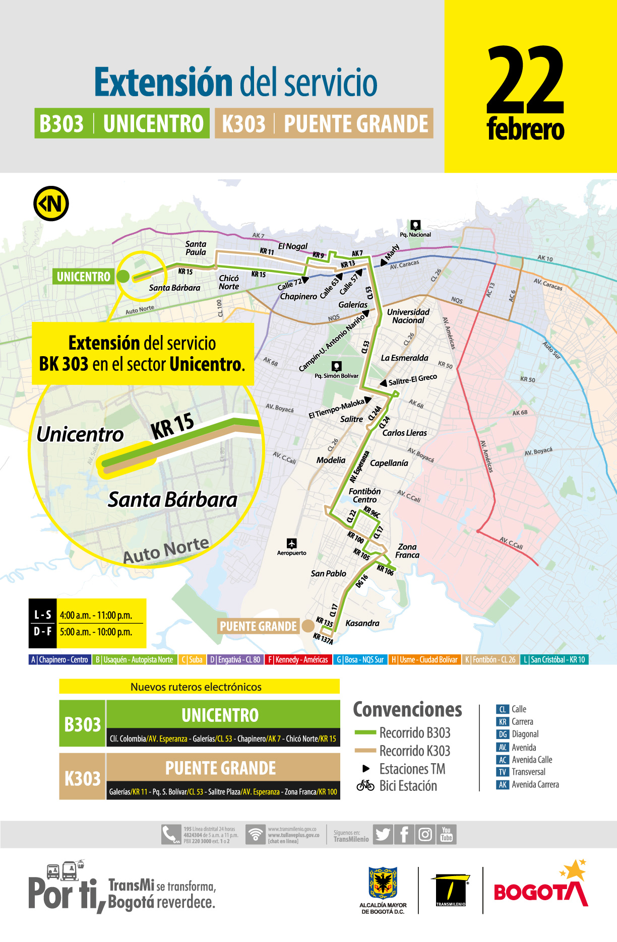 B303 Unicentro - K303 Puente Grande