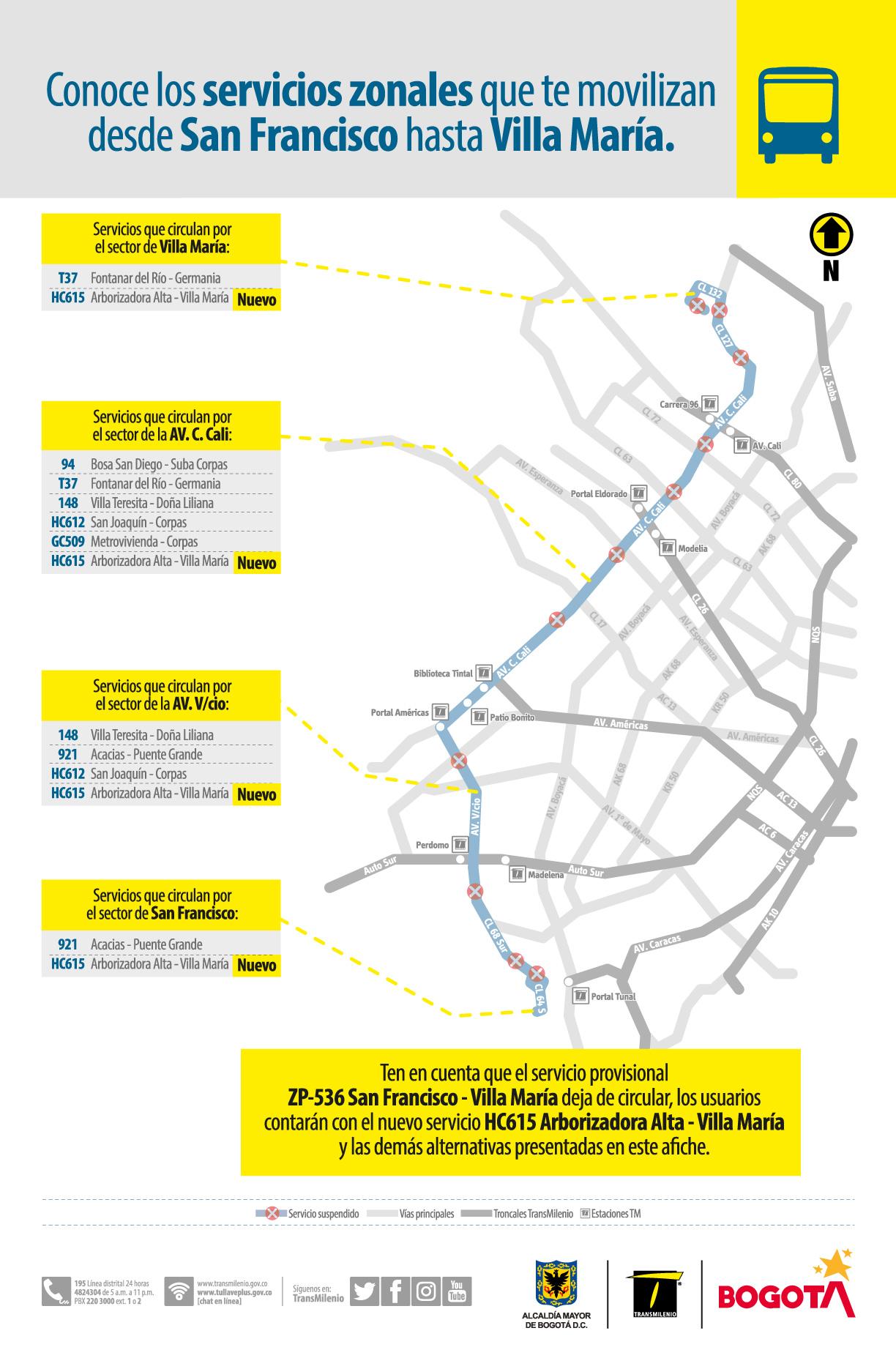 Servicios zonales que te movilizan desde San Francisco hasta Villa María
