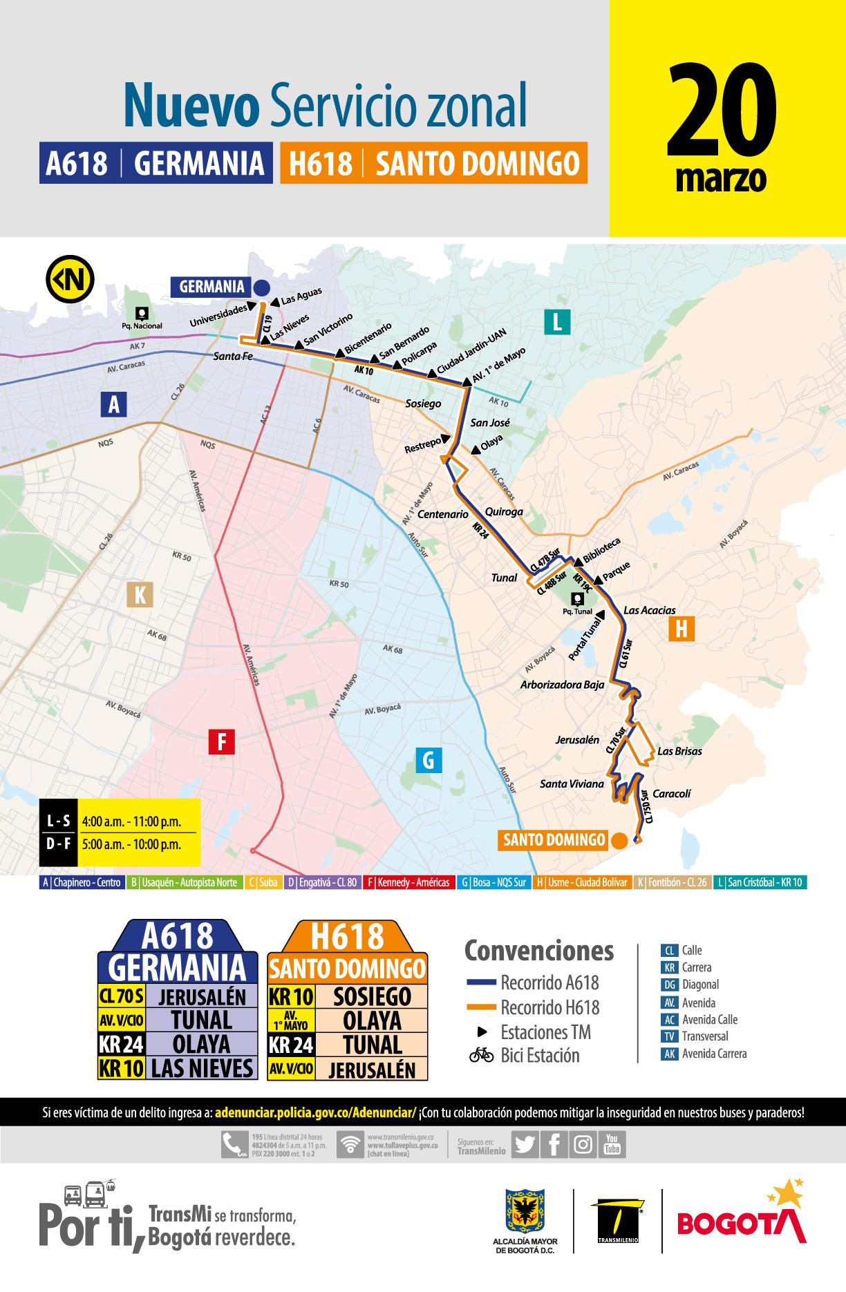 A618 Germania – H618 Santo Domingo