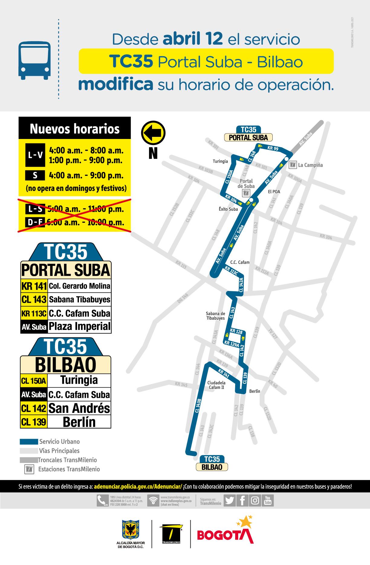 TC35 Portal Suba - Bilbao