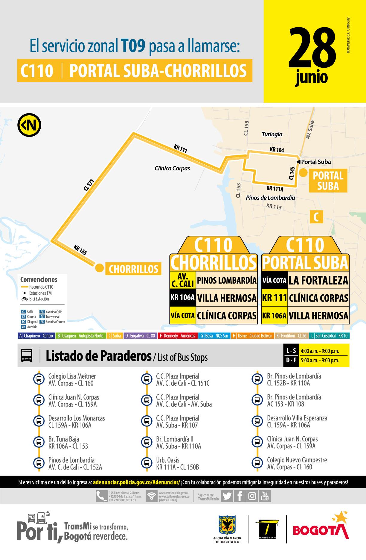 C110 Portal Suba - Chorrillos