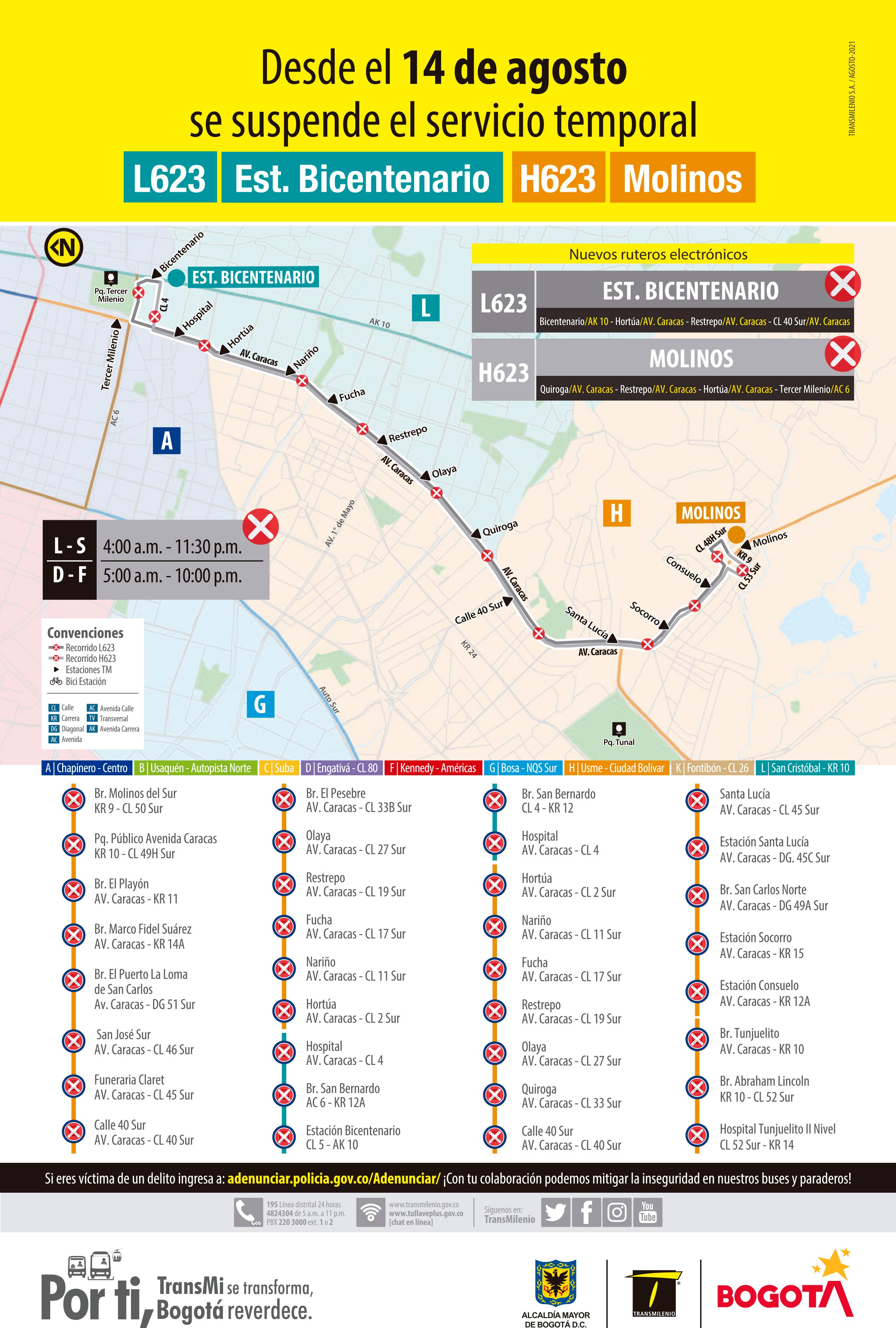 L623 Estación Bicentenario - H623 Molinos