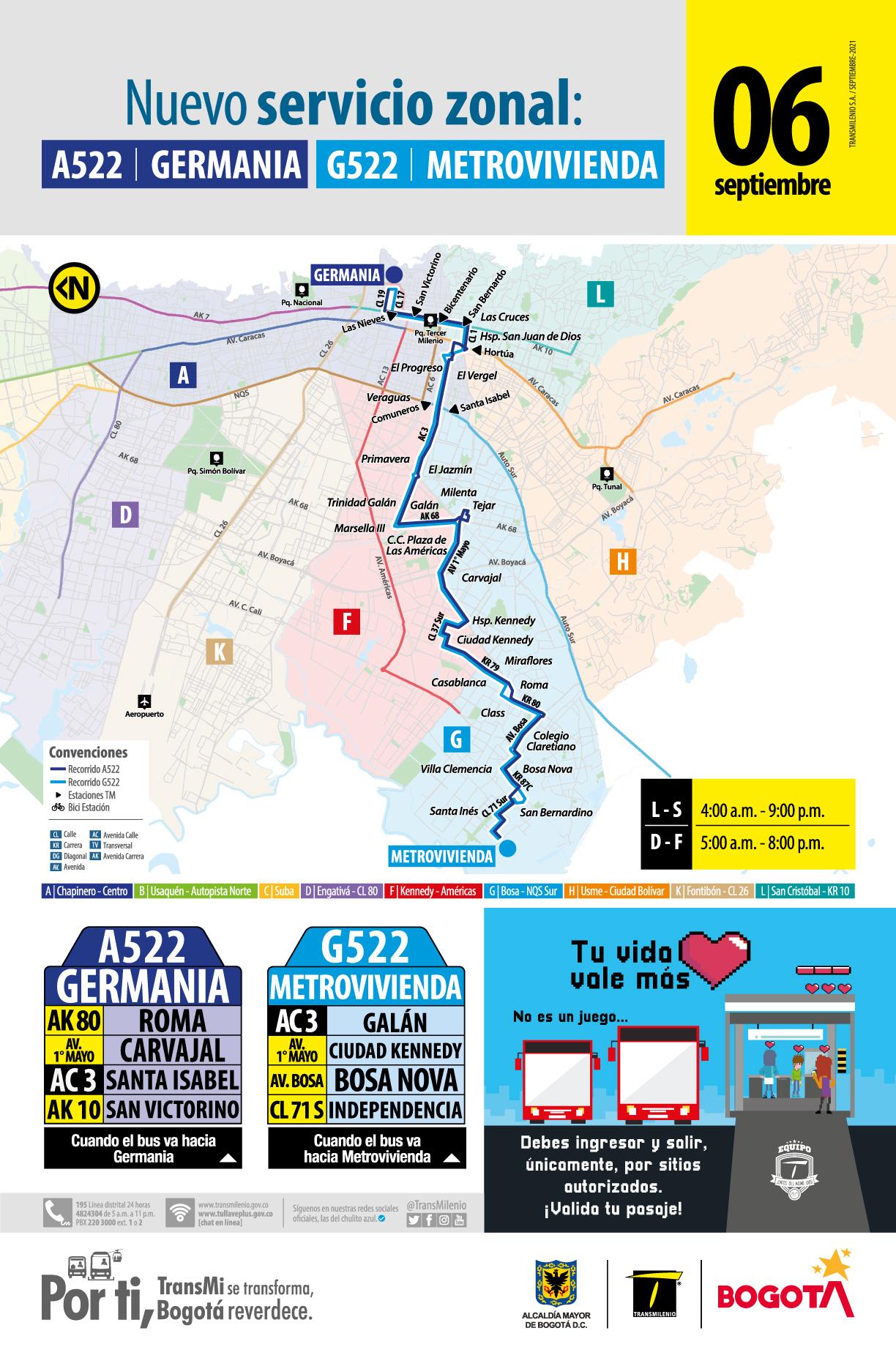 A522 Germania - G522 Metrovivienda